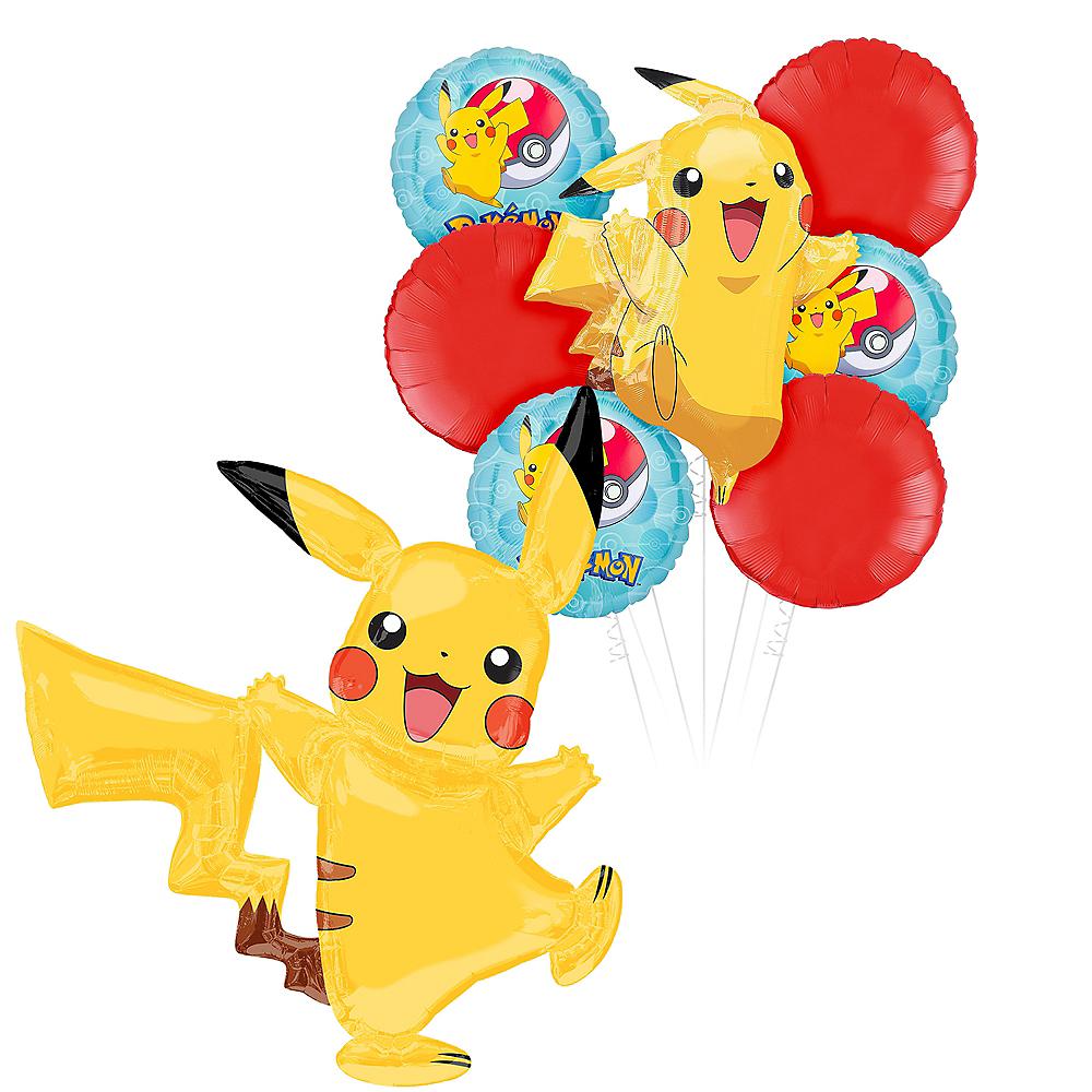 Pokemon Pikachu Deluxe Airwalker Balloon Bouquet, 8pc Image #1