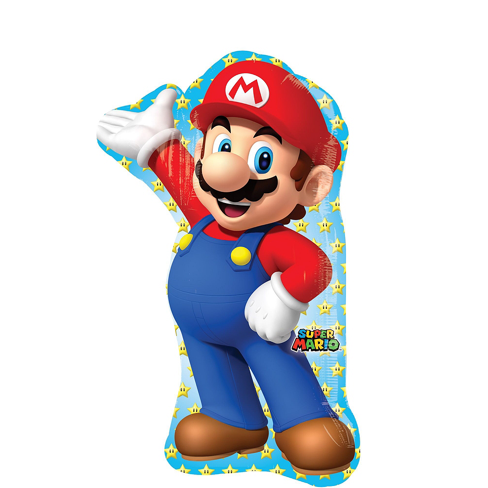 Super Mario Deluxe Airwalker Balloon Bouquet, 9pc Image #4