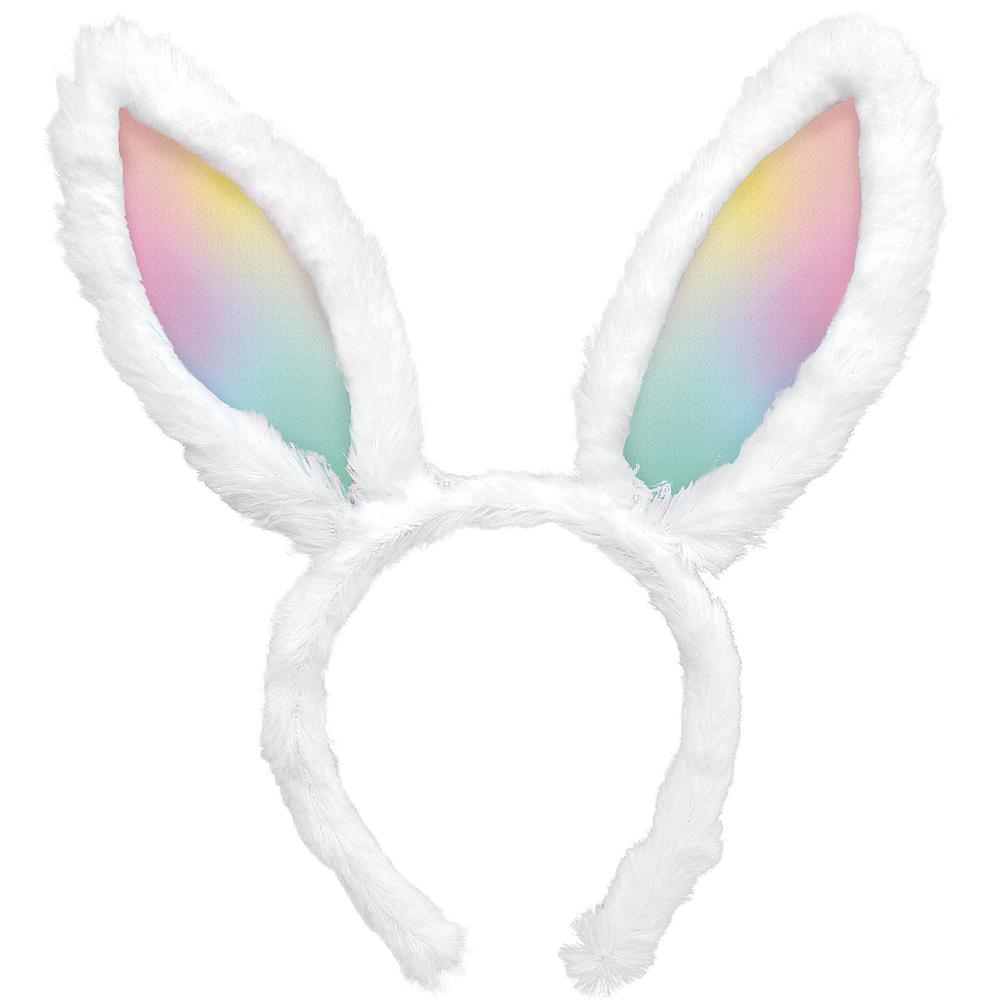 Ombre Rainbow Bunny Ears Headband Image #1