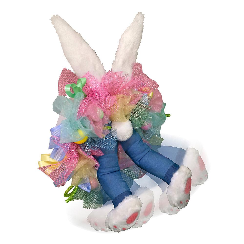 Animated Kicking Easter Bunny Wreath Image #3