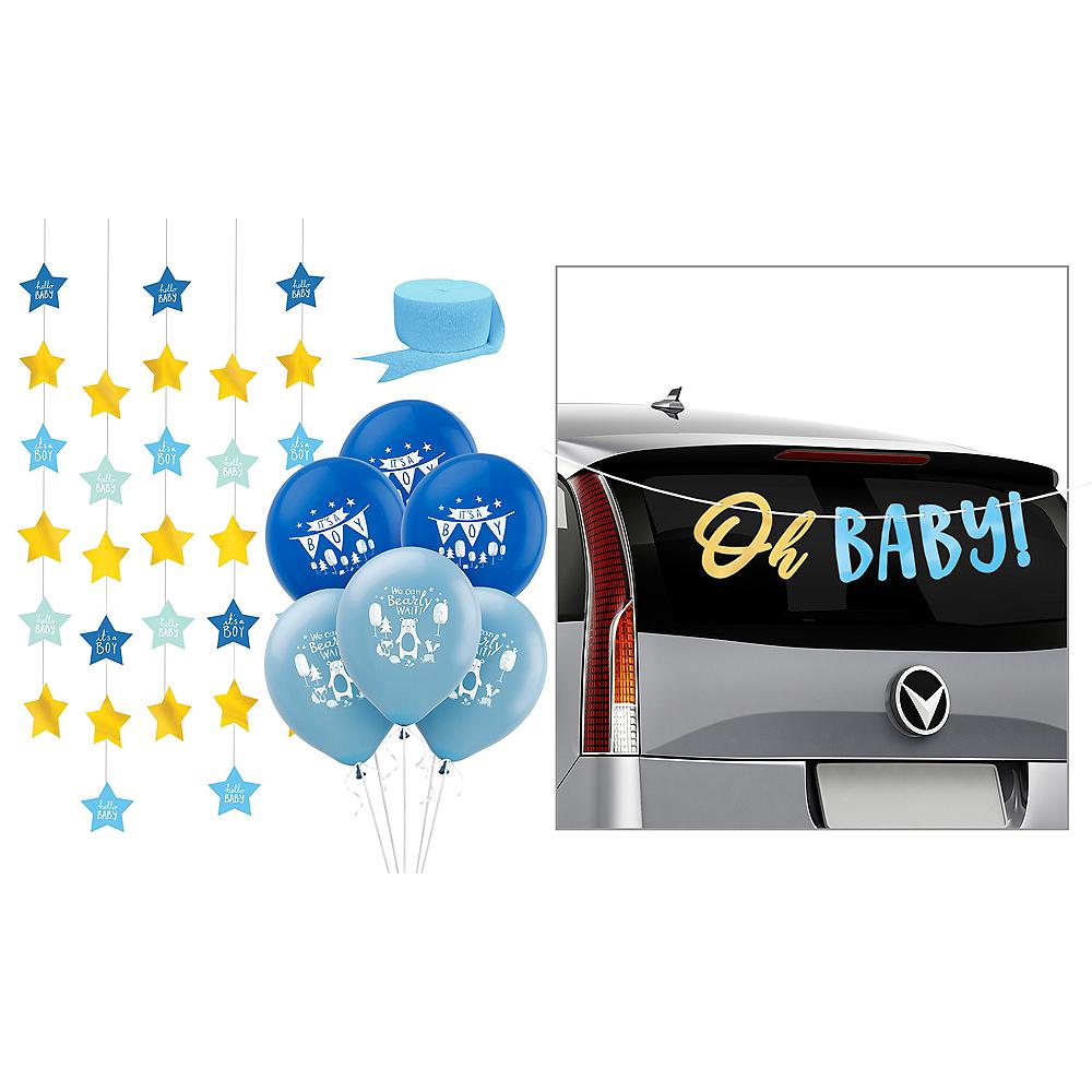 Blue Baby Shower Car Decorating Kit Image #1