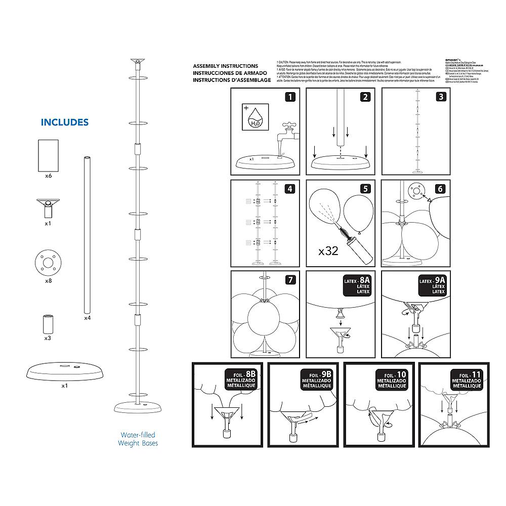 Balloon Column Base Kit, 5ft Image #3