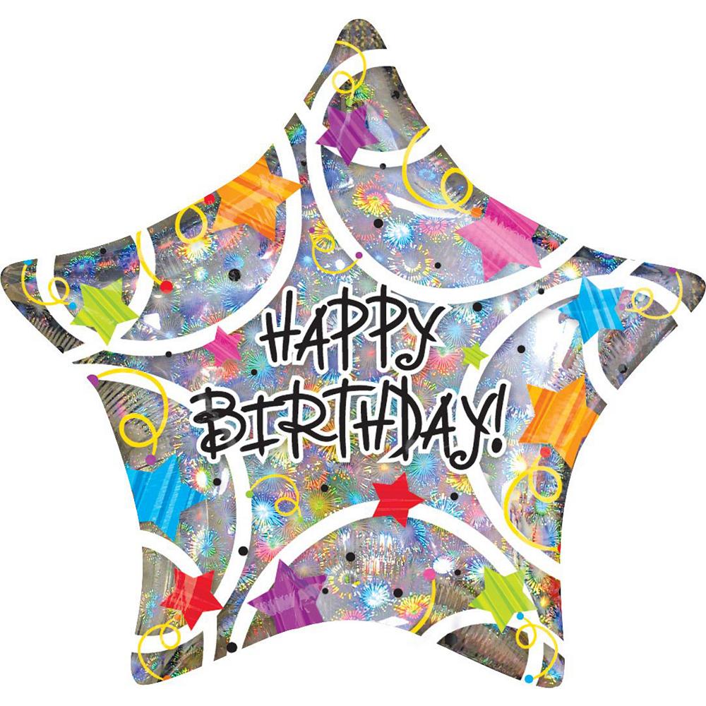 Star Birthday Deluxe Balloon Bouquet, 7pc Image #3