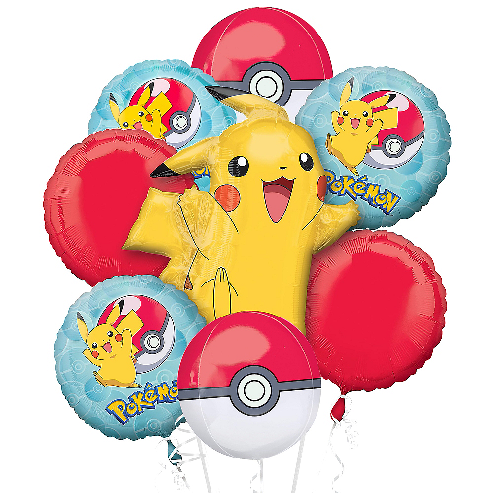 Pokemon Deluxe Balloon Bouquet, 8pc Image #1
