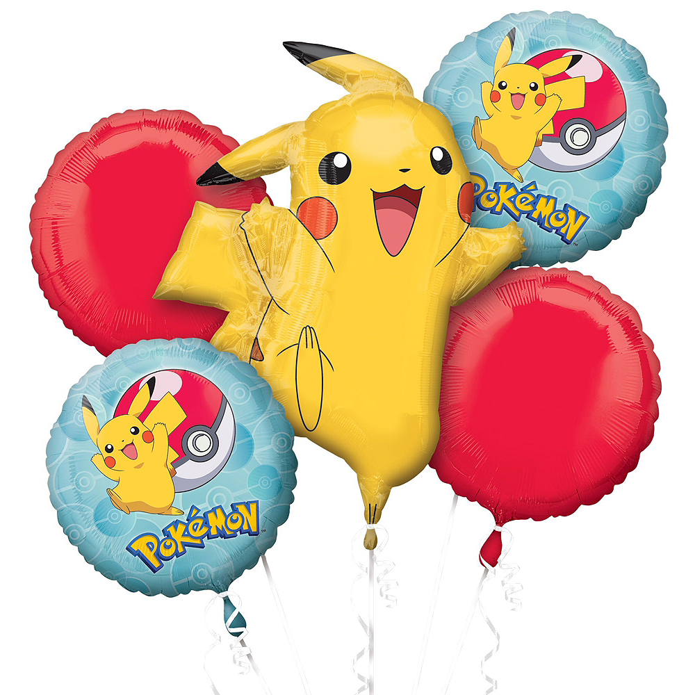 Pokemon Deluxe Balloon Bouquet, 8pc Image #3