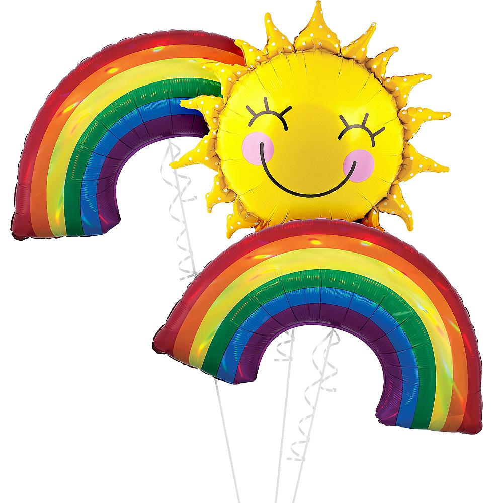Sunshine & Rainbows Balloon Bouquet, 3pc Image #1