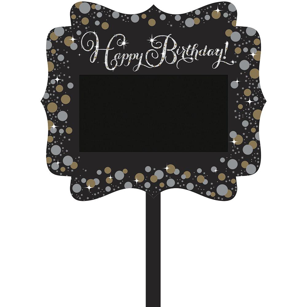 Black, Silver & Gold Sparkling Celebration Yard Decorating Kit Image #4