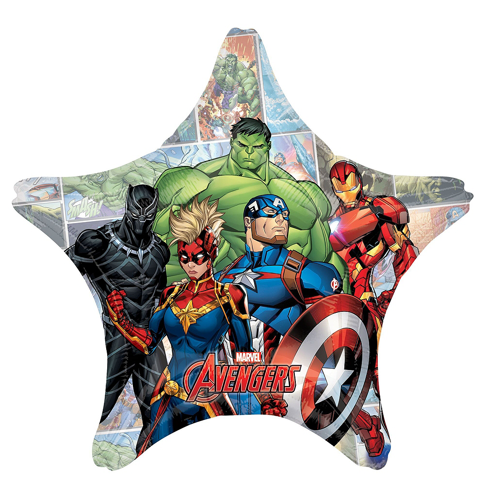 Avengers Unite Deluxe Airwalker Balloon Bouquet, 8pc Image #2