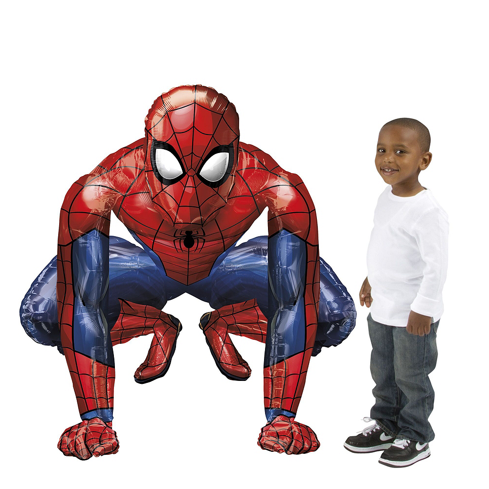 Spider-Man Deluxe Airwalker Balloon Bouquet, 8pc Image #3