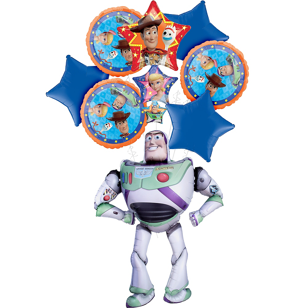 Toy Story 4 Deluxe Airwalker Balloon Bouquet, 8pc Image #1