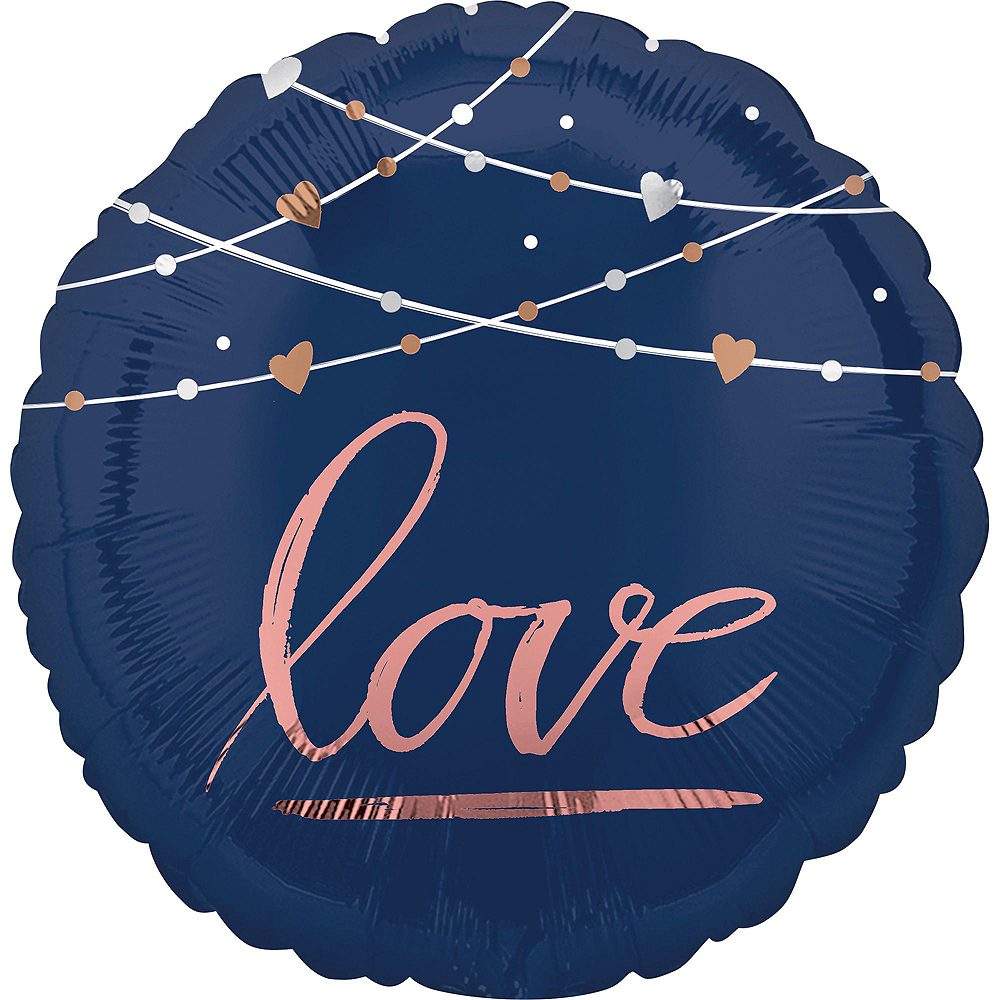 Navy Better Together Deluxe Wedding Balloon Bouquet, 11pc Image #3