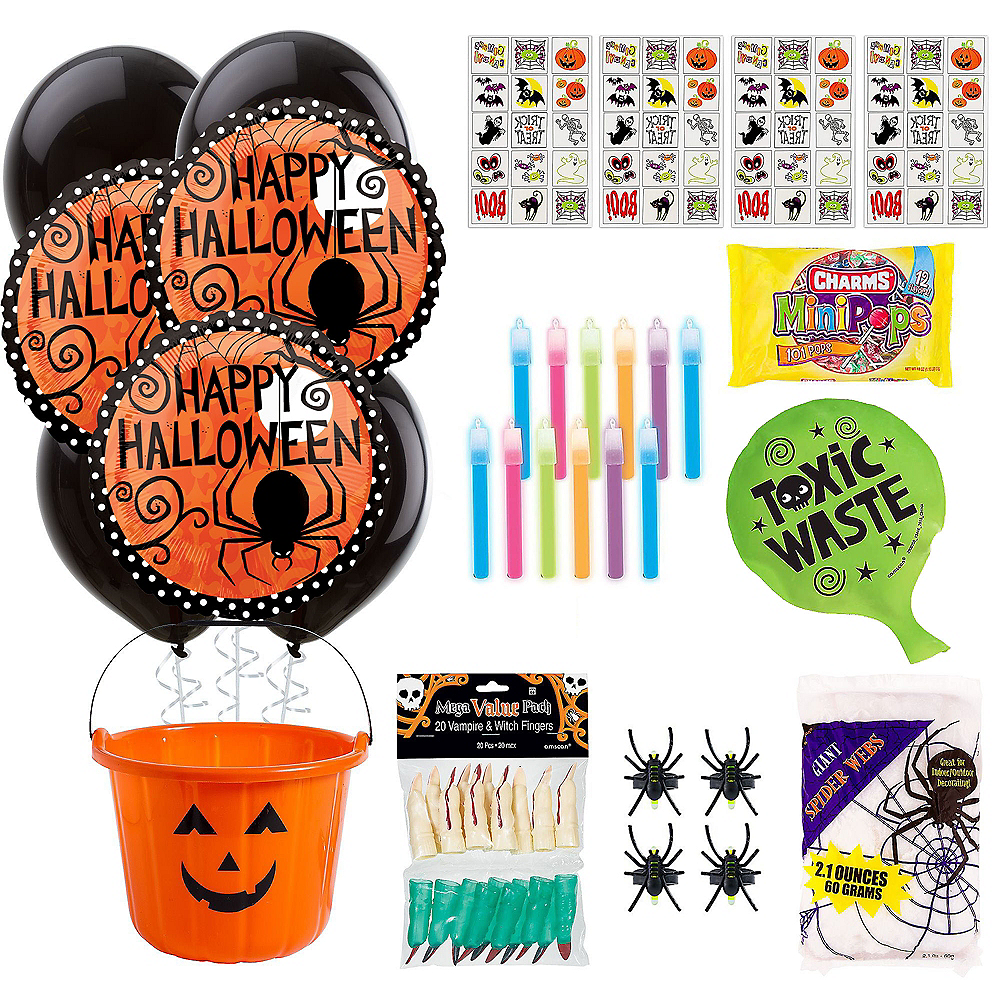 Super Halloween Spooky Basket Kits for 4 Guests Image #1