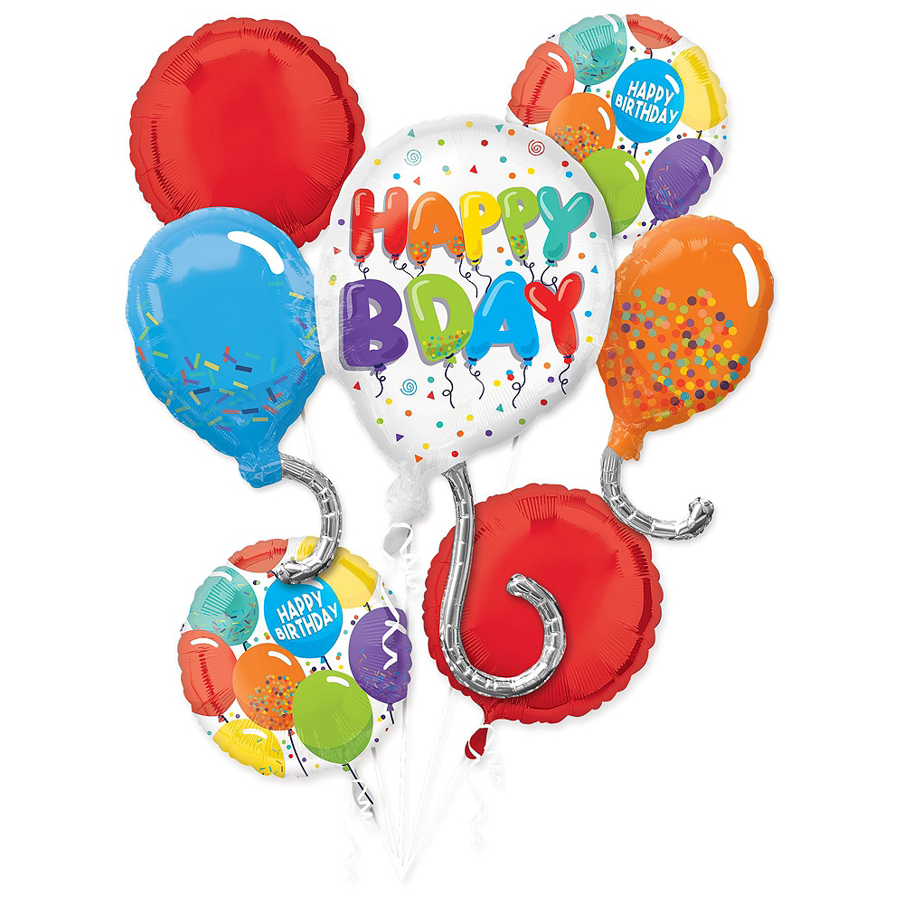 Multicolor Birthday Celebration Balloon Bouquet, 17pc Image #2