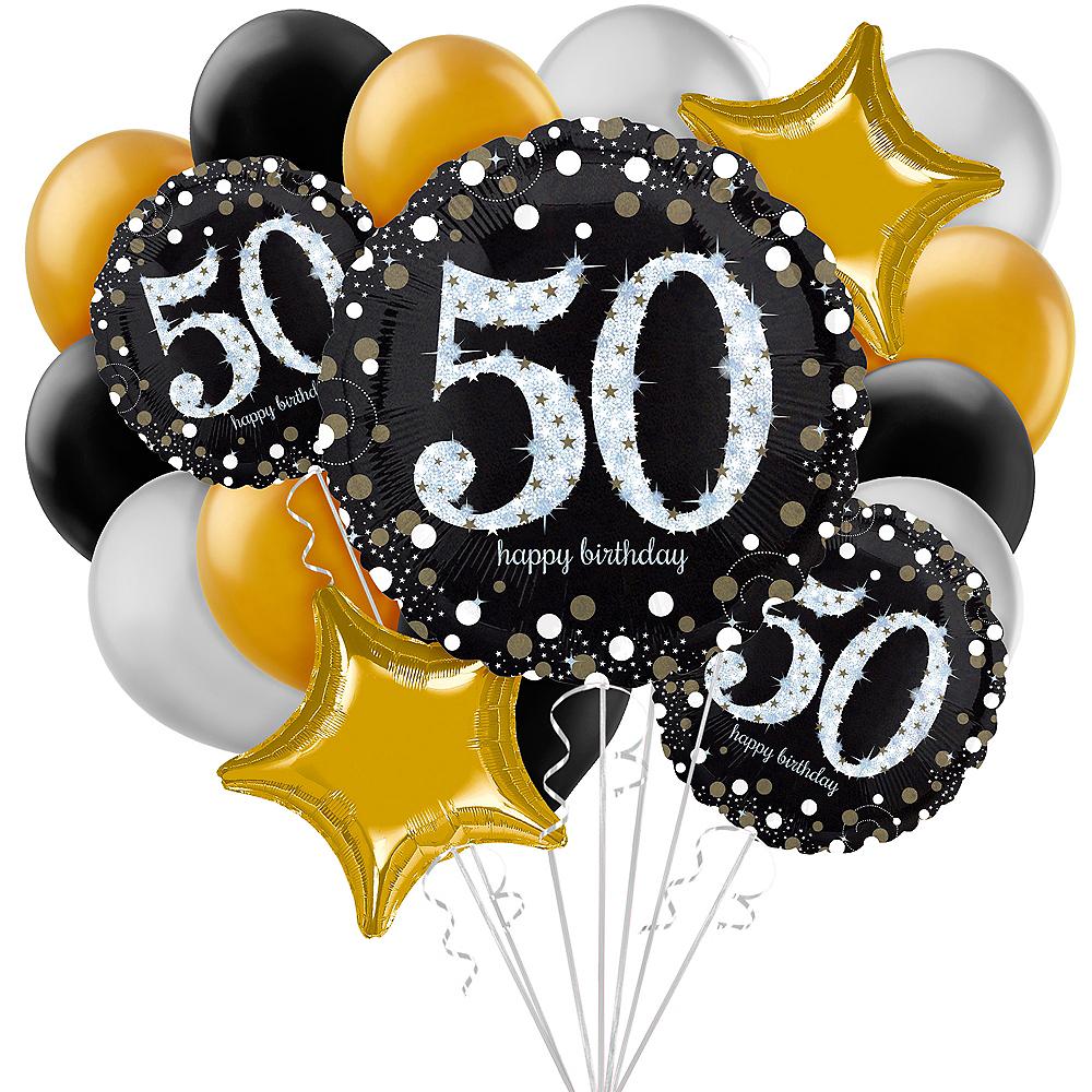 Sparkling Celebration 50th Birthday Balloon Bouquet, 17pc Image #1