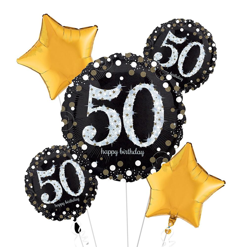 Sparkling Celebration 50th Birthday Balloon Bouquet, 17pc Image #2