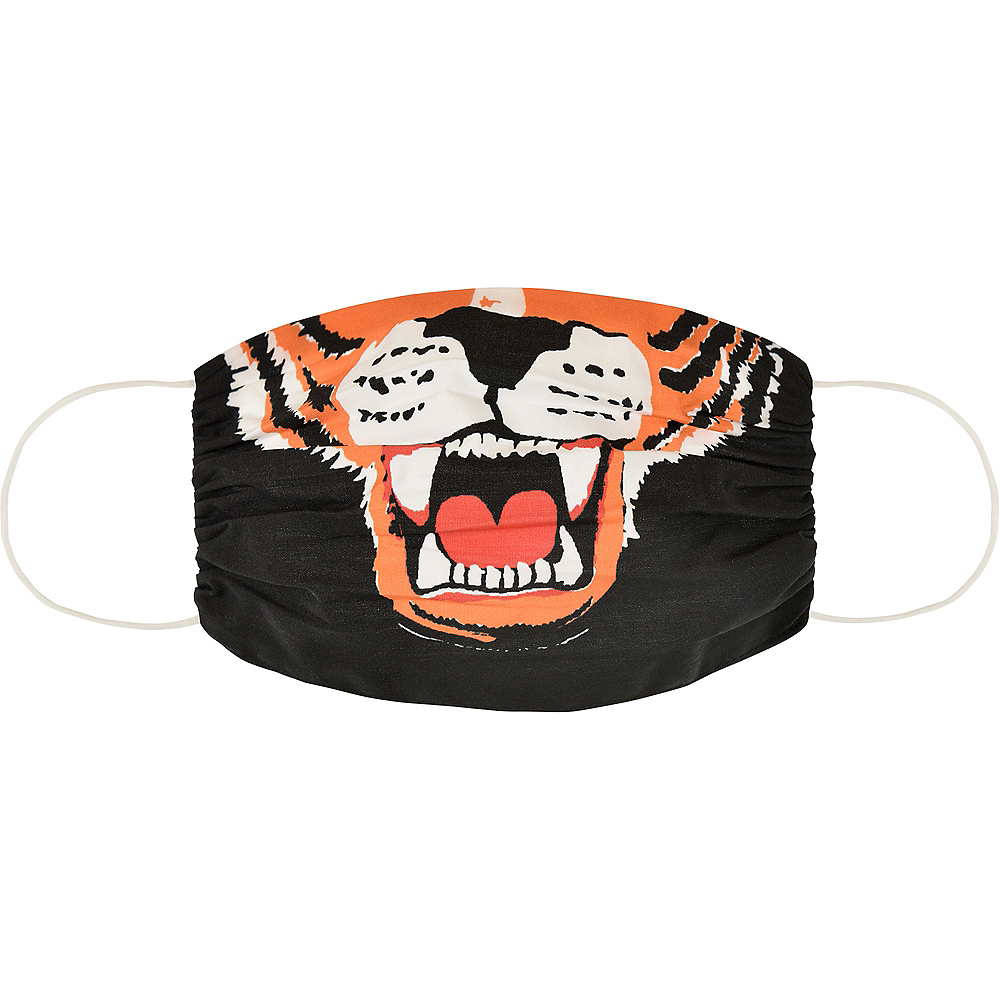 Adult Fierce Tiger Face Mask Image #1