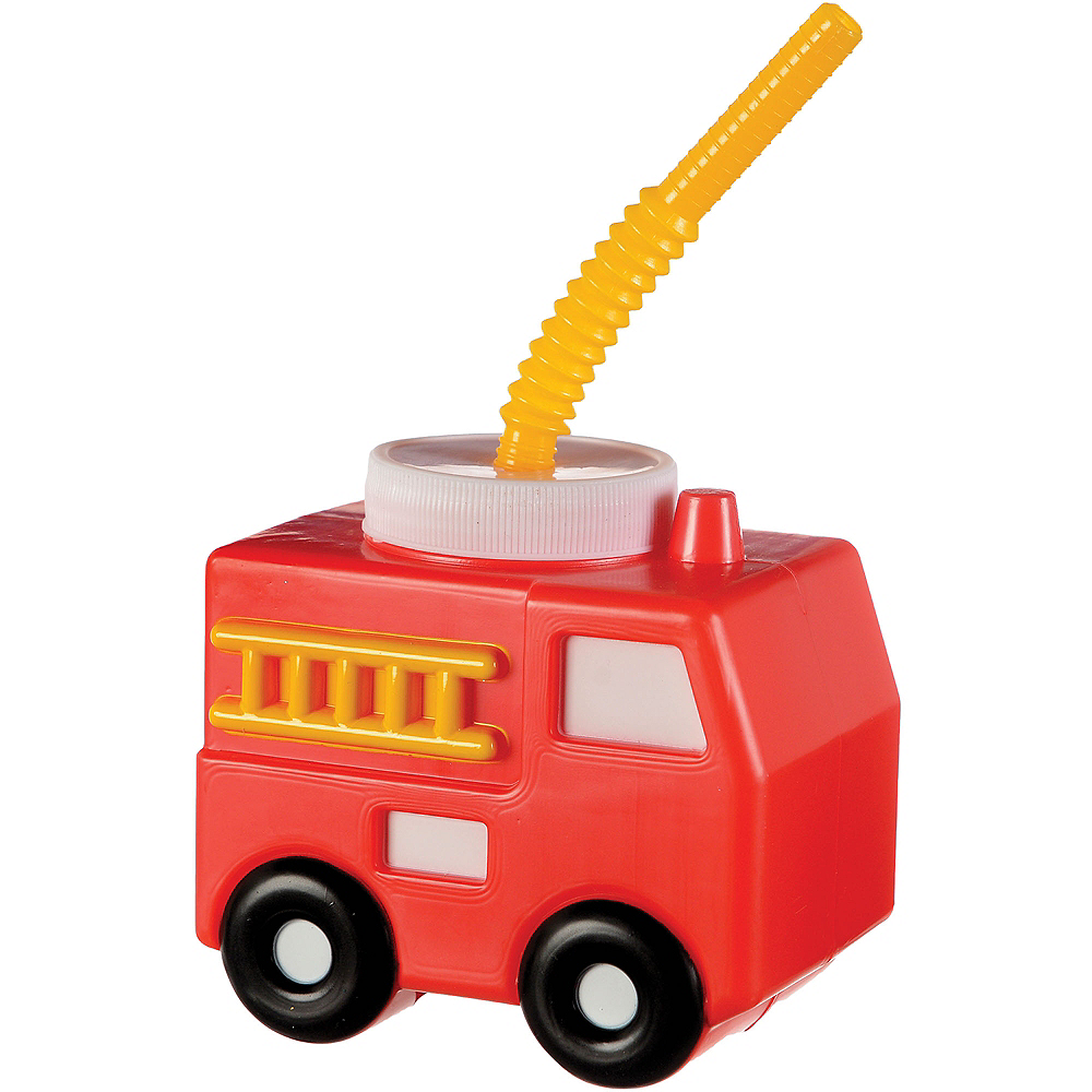 Fire Truck Cup with Straw, 15.9oz Image #1