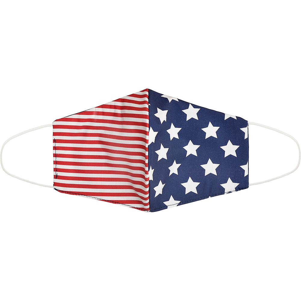 Adult Patriotic American Flag Face Mask Image #1