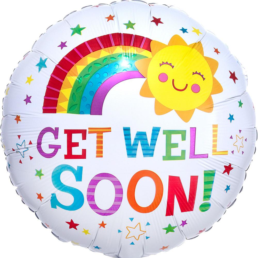 Rainbows & Sunshine Get Well Soon Balloon Bouquet, 12pc Image #9