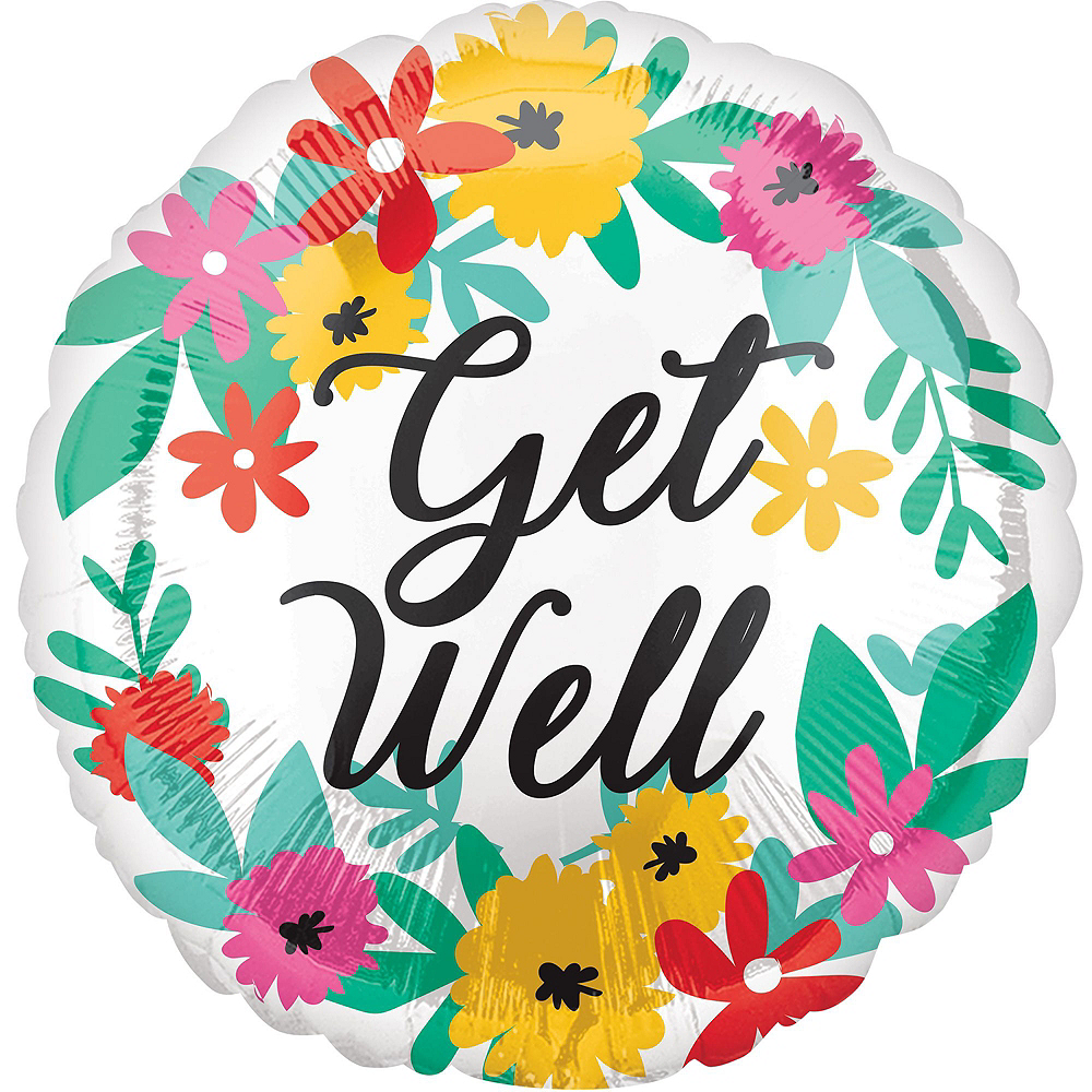 Sunshine & Flowers Get Well Soon Balloon Bouquet, 11pc Image #6