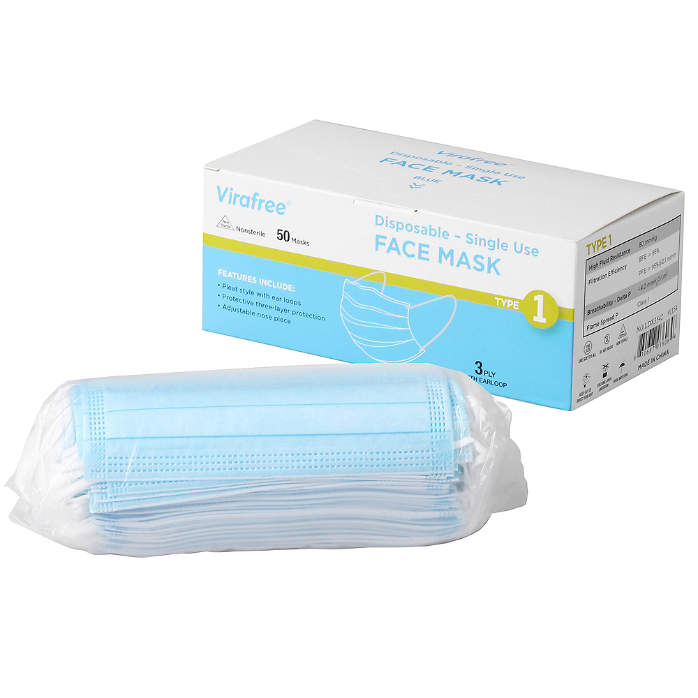 Disposable Protective Face Masks, 50ct Image #2