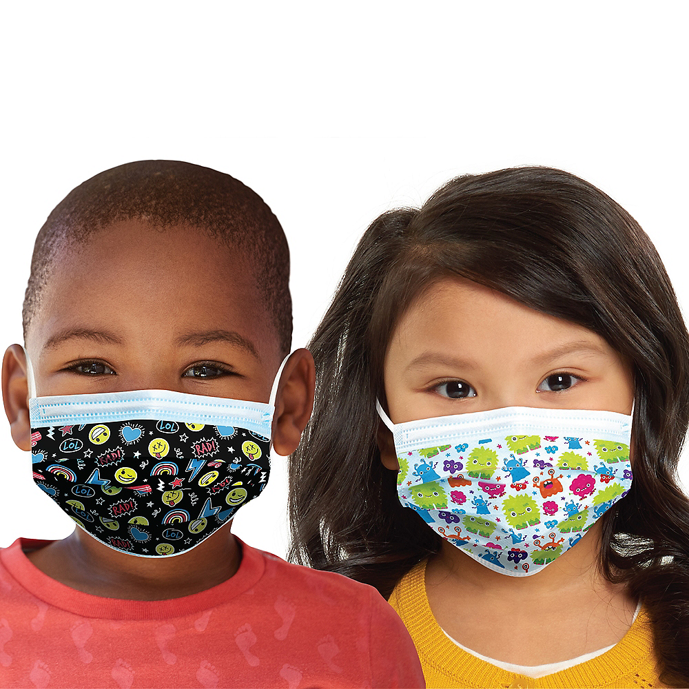 Disposable Protective Face Masks for Kids, Ages 2-7, 24ct Image #1