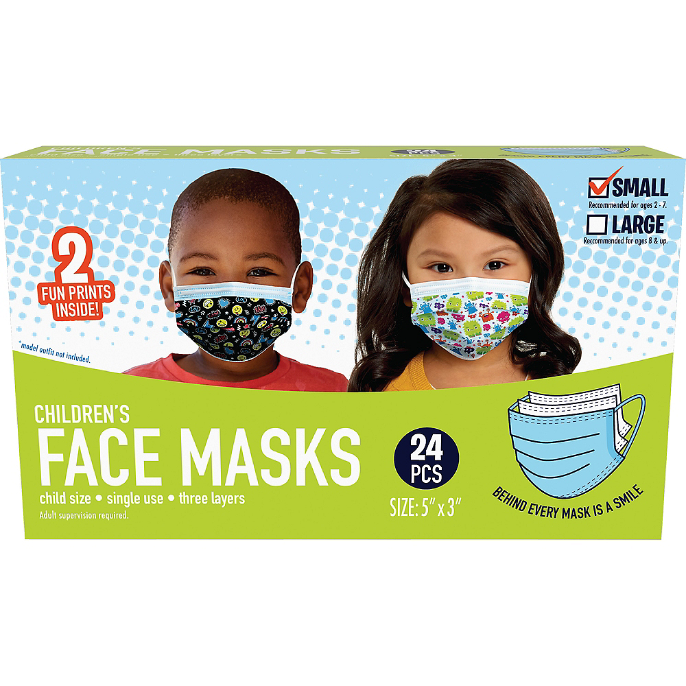 Disposable Protective Face Masks for Kids, Ages 2-7, 24ct Image #2