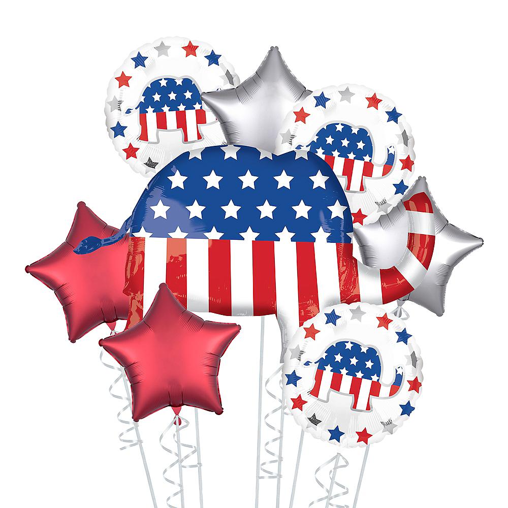Republican Elephant Election Balloon Bouquet, 8pc Image #1