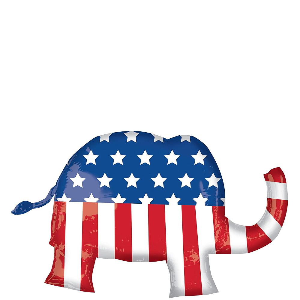 Republican Elephant Election Balloon Bouquet, 8pc Image #2