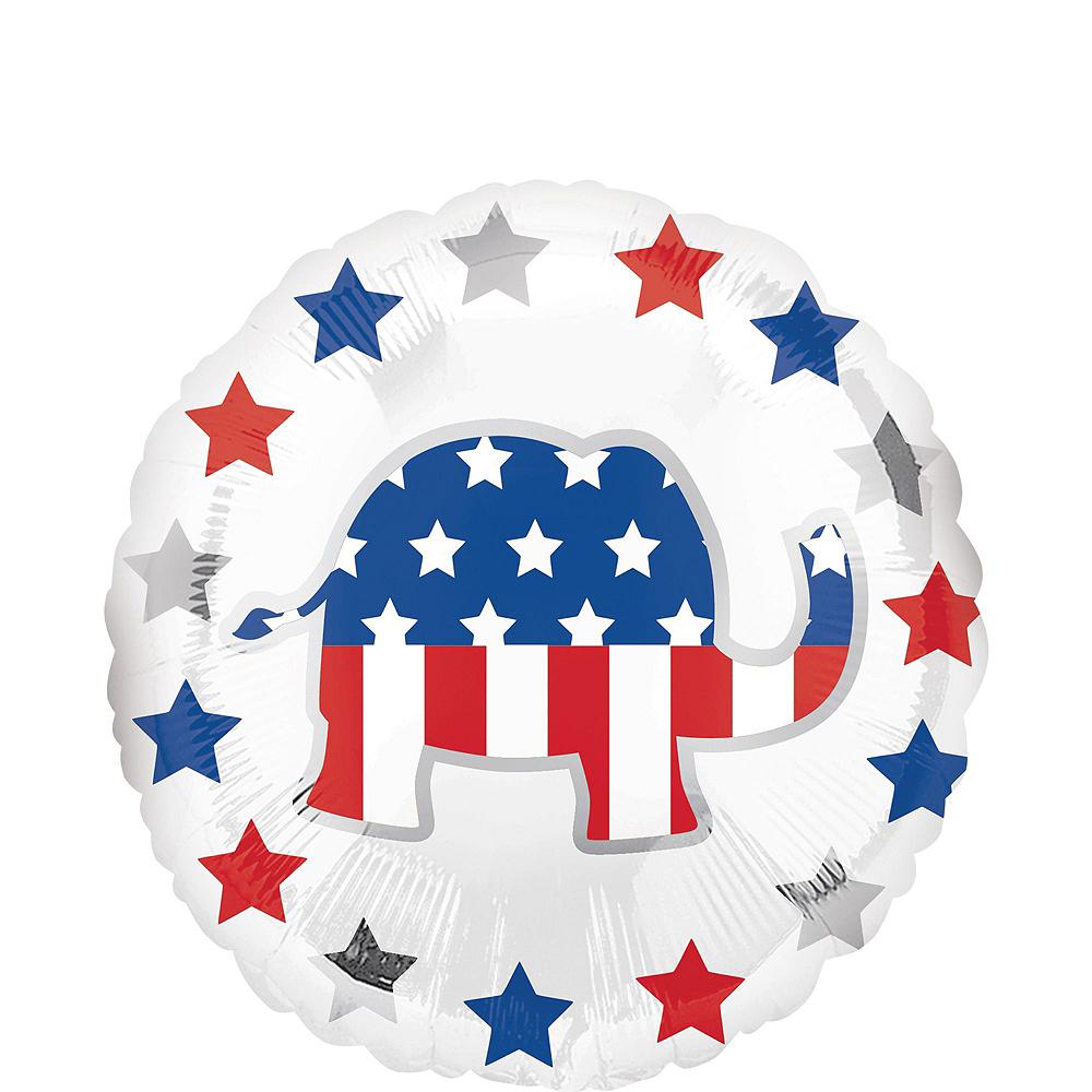 Republican Elephant Election Balloon Bouquet, 8pc Image #3