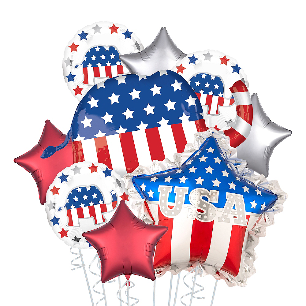 Republican Elephant & Star Election Balloon Bouquet, 9pc Image #1