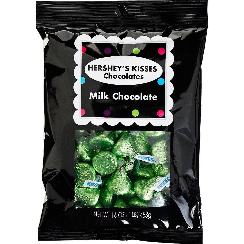 Green Milk Chocolate Hershey's Kisses, 16oz Image #1