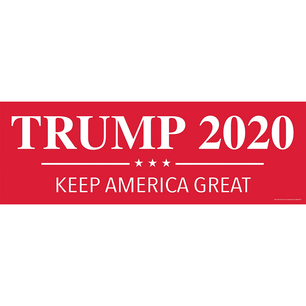 Red Trump 2020 Election Horizontal Banner Image #1