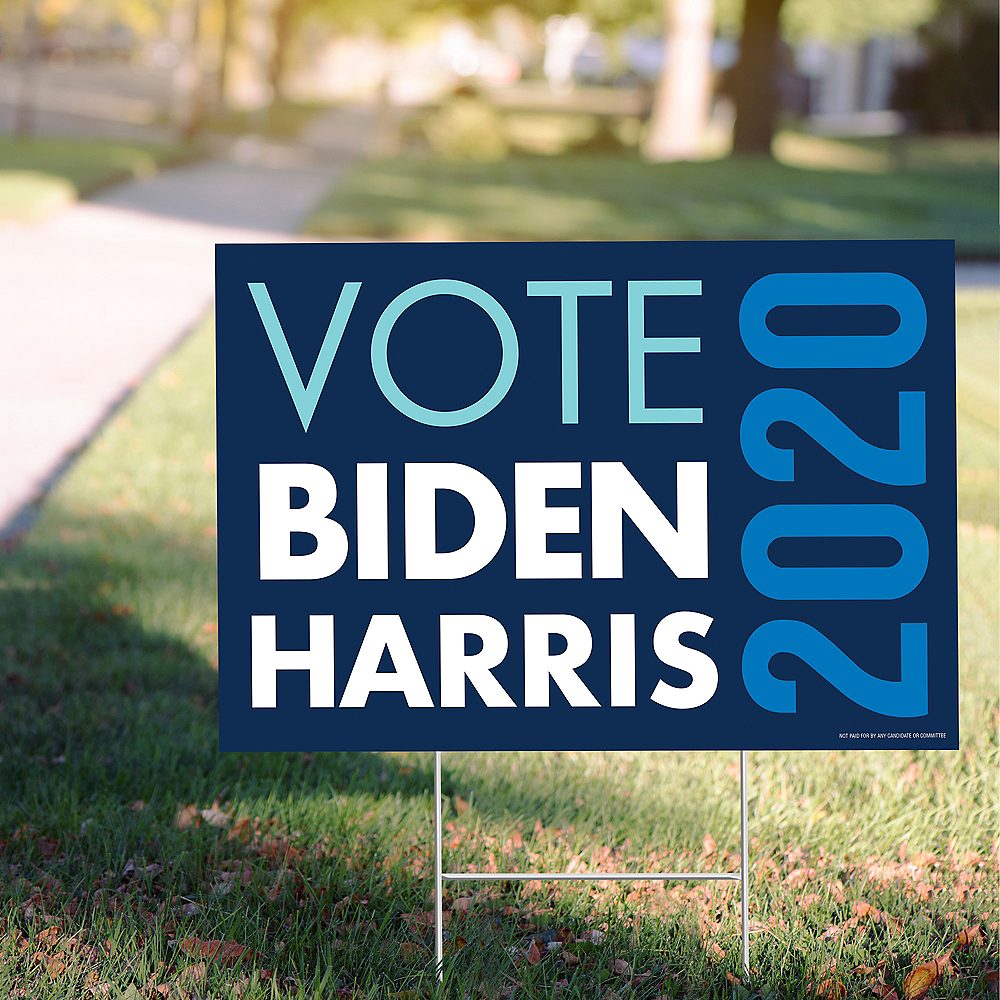 Blue Vote Biden & Harris 2020 Election Yard Sign Image #1