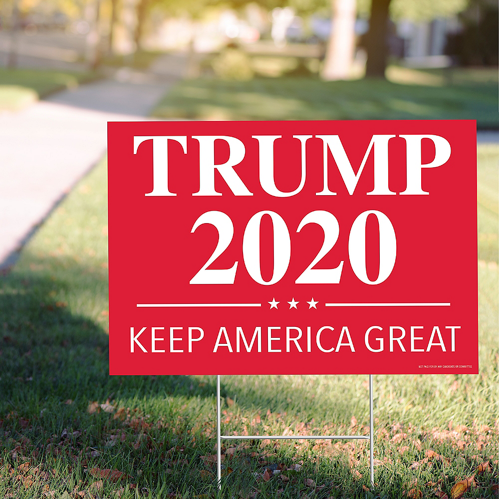 Red Trump 2020 Election Yard Sign Image #1