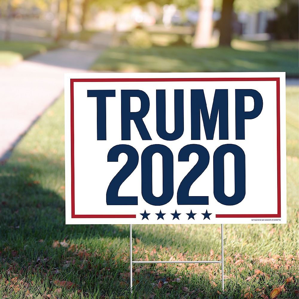 Red, White & Blue Trump 2020 Election Yard Sign Image #1