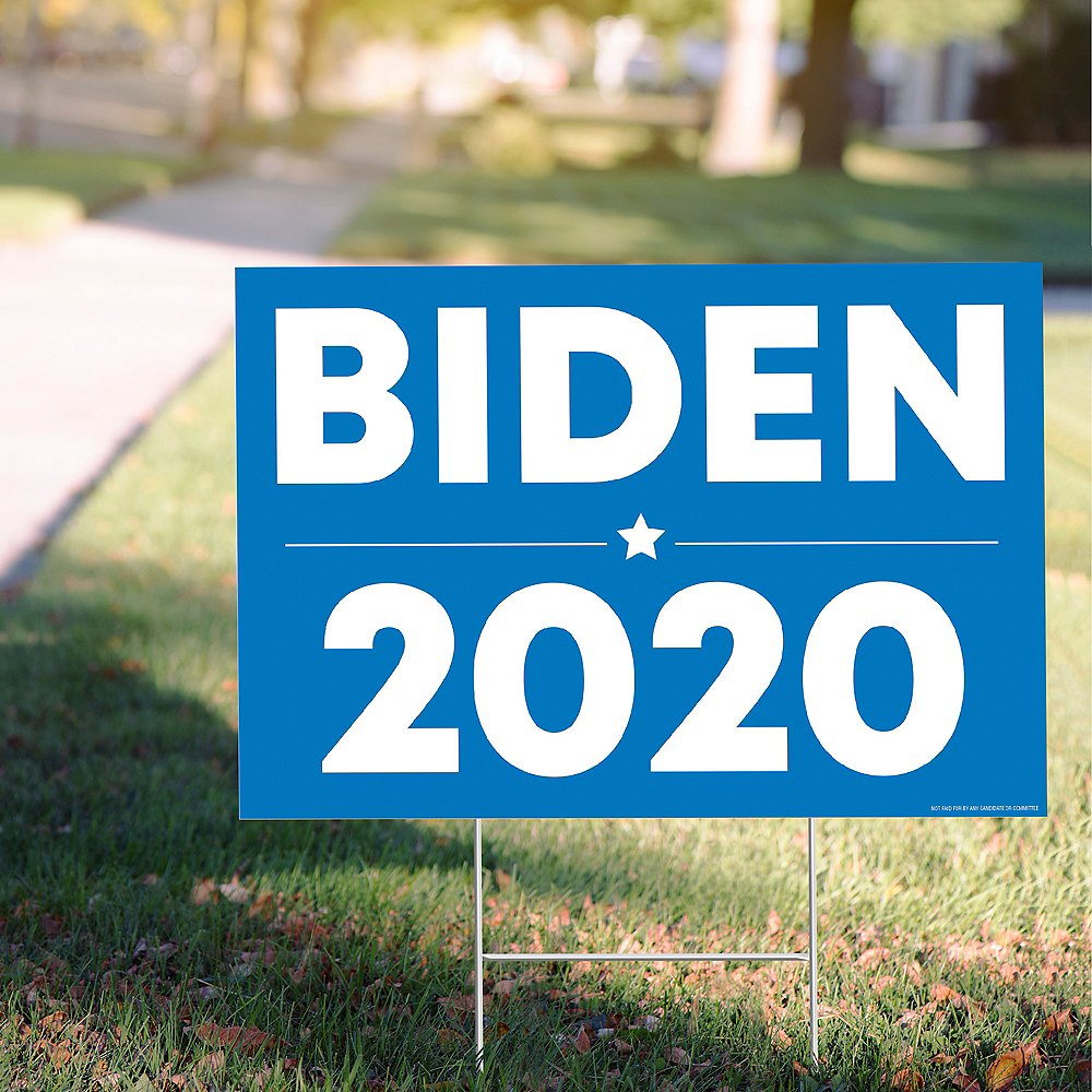 Blue Biden 2020 Election Yard Sign Image #1