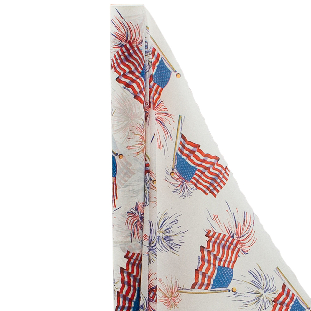 American Flag Plastic Table Cover Roll Image #1