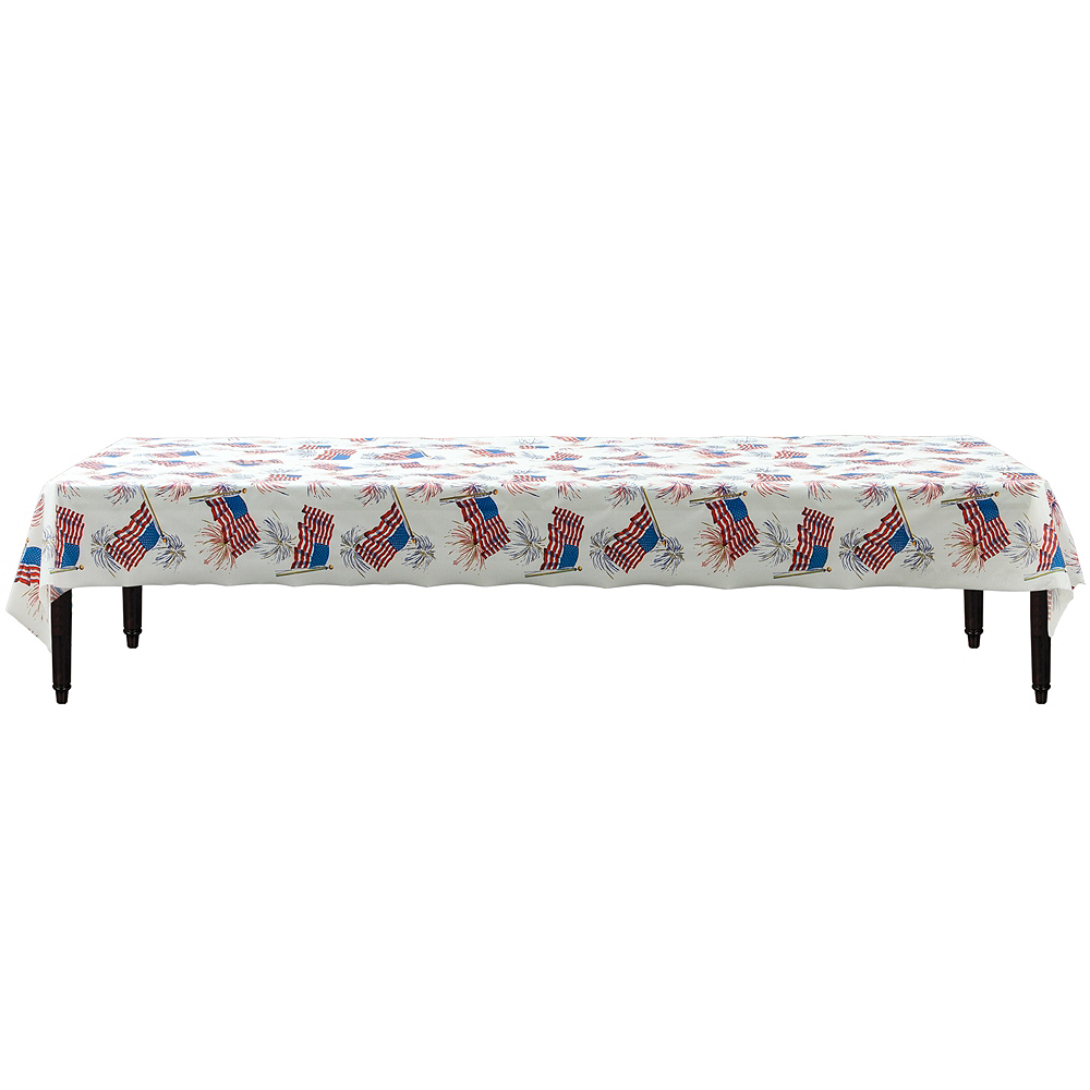 American Flag Plastic Table Cover Roll Image #2