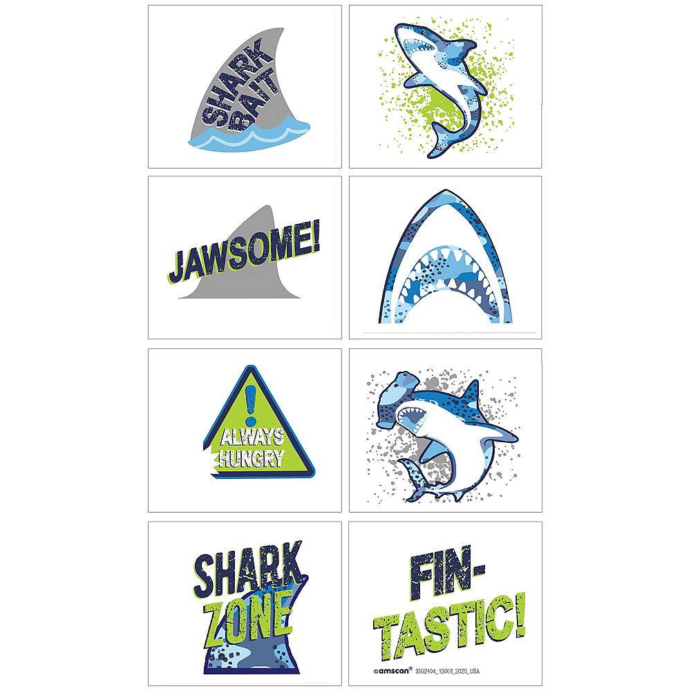 Nav Item for Shark Party Tattoos 1 Sheet Image #1
