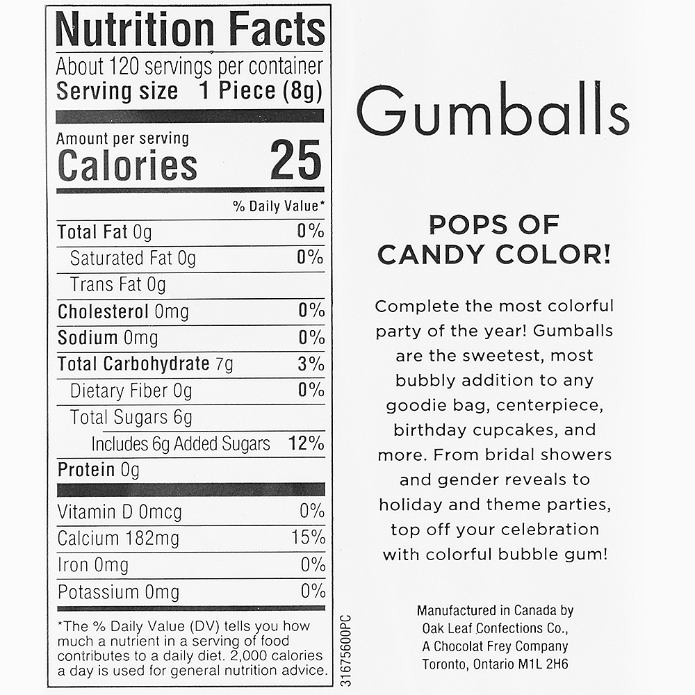 Silver Gumballs, 35oz - Fruit Flavor Image #3