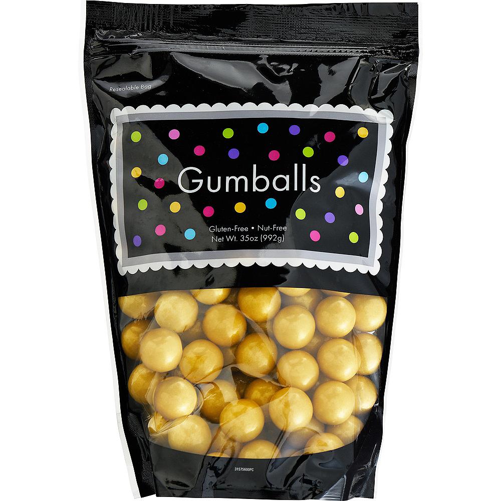 Gold Gumballs, 35oz - Fruit Flavor Image #1