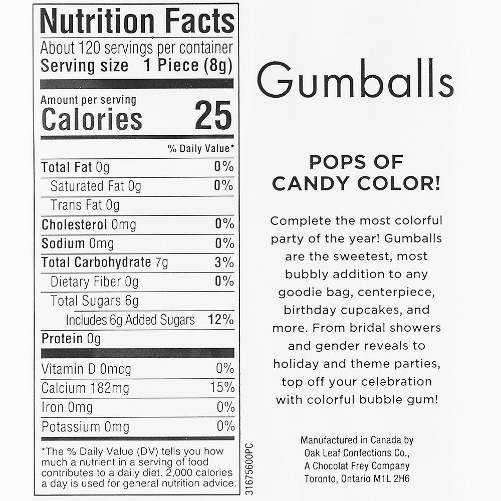 Rainbow Gumballs, 35oz - Assorted Flavors Image #3