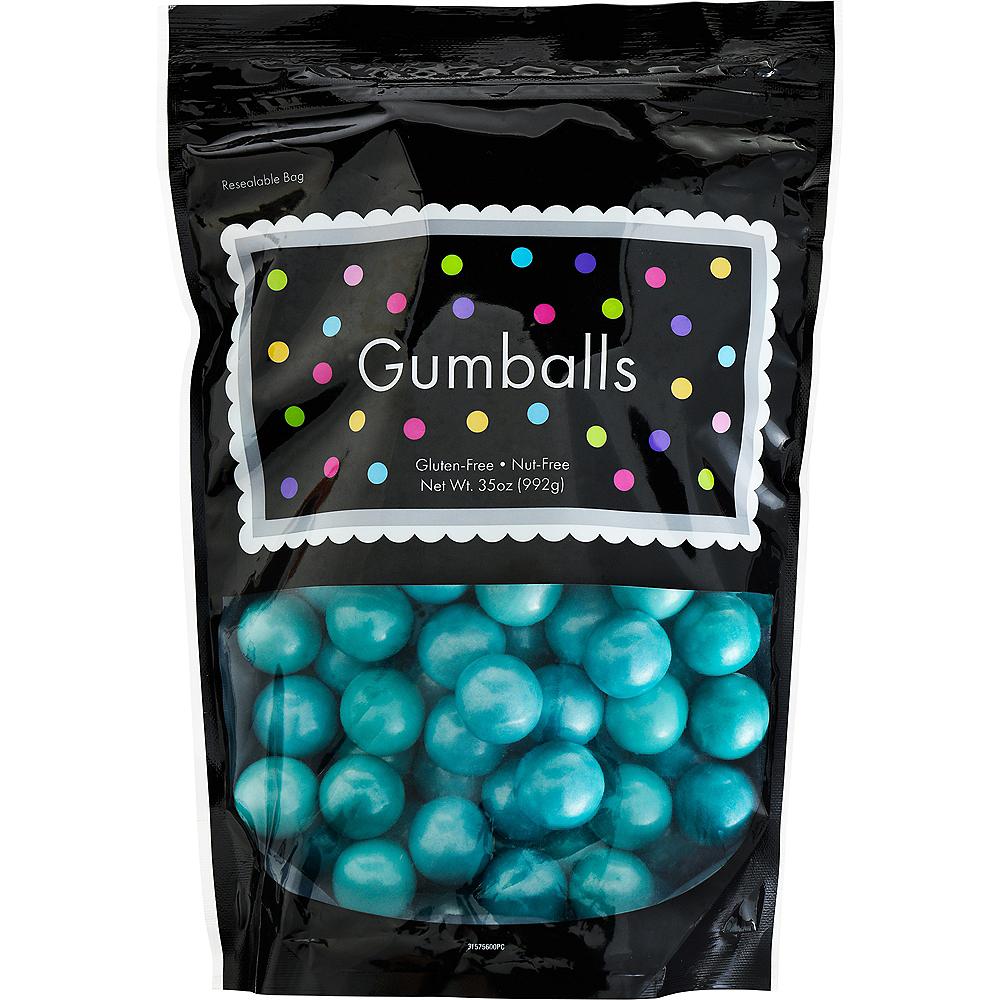Robin's Egg Blue Gumballs, 35oz - Cotton Candy Flavor Image #1
