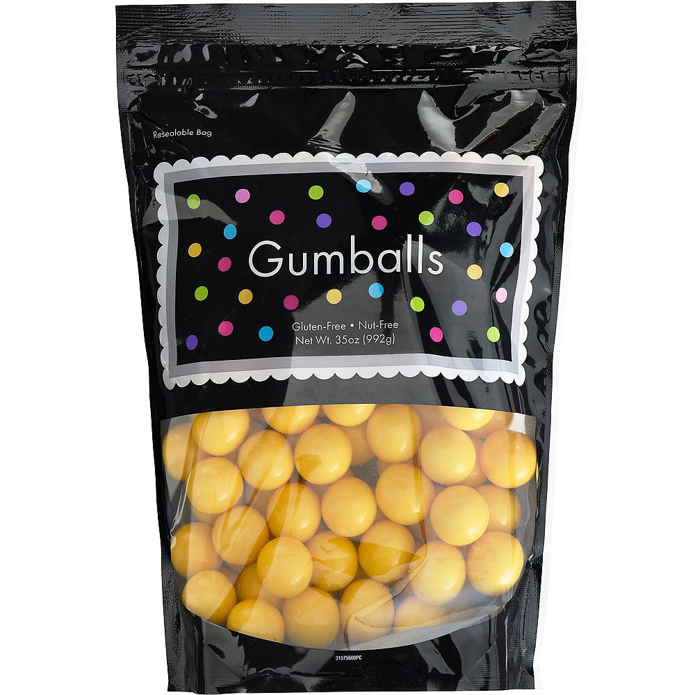 Yellow Gumballs, 35oz - Banana Flavor Image #1