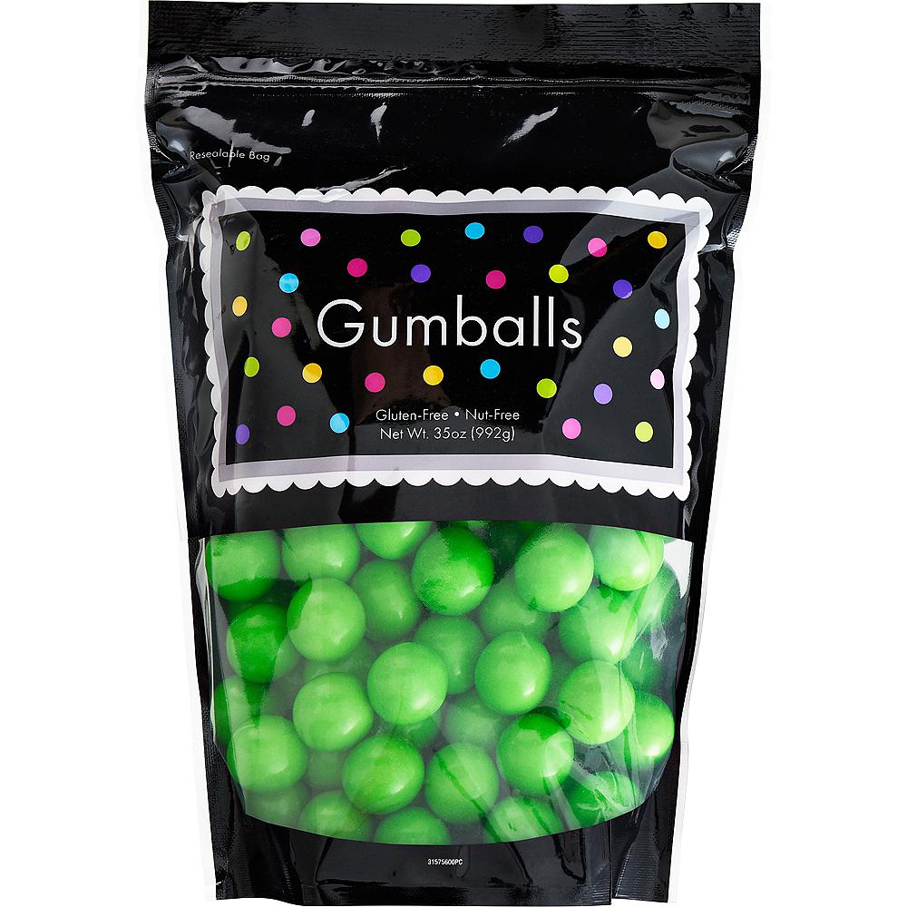 Green Gumballs, 35oz - Green Apple Flavor Image #1