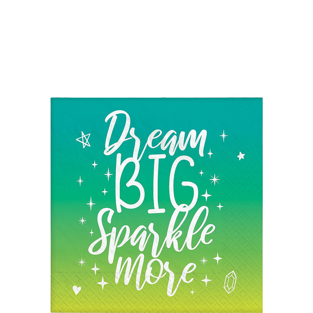 Sparkle Birthday Basic Tableware Kit for 8 Guests Image #4