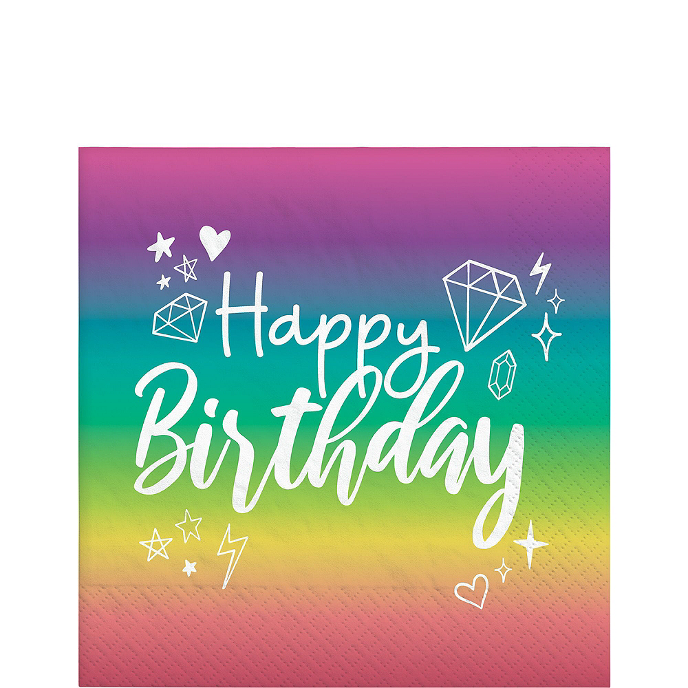 Sparkle Birthday Basic Tableware Kit for 8 Guests Image #5