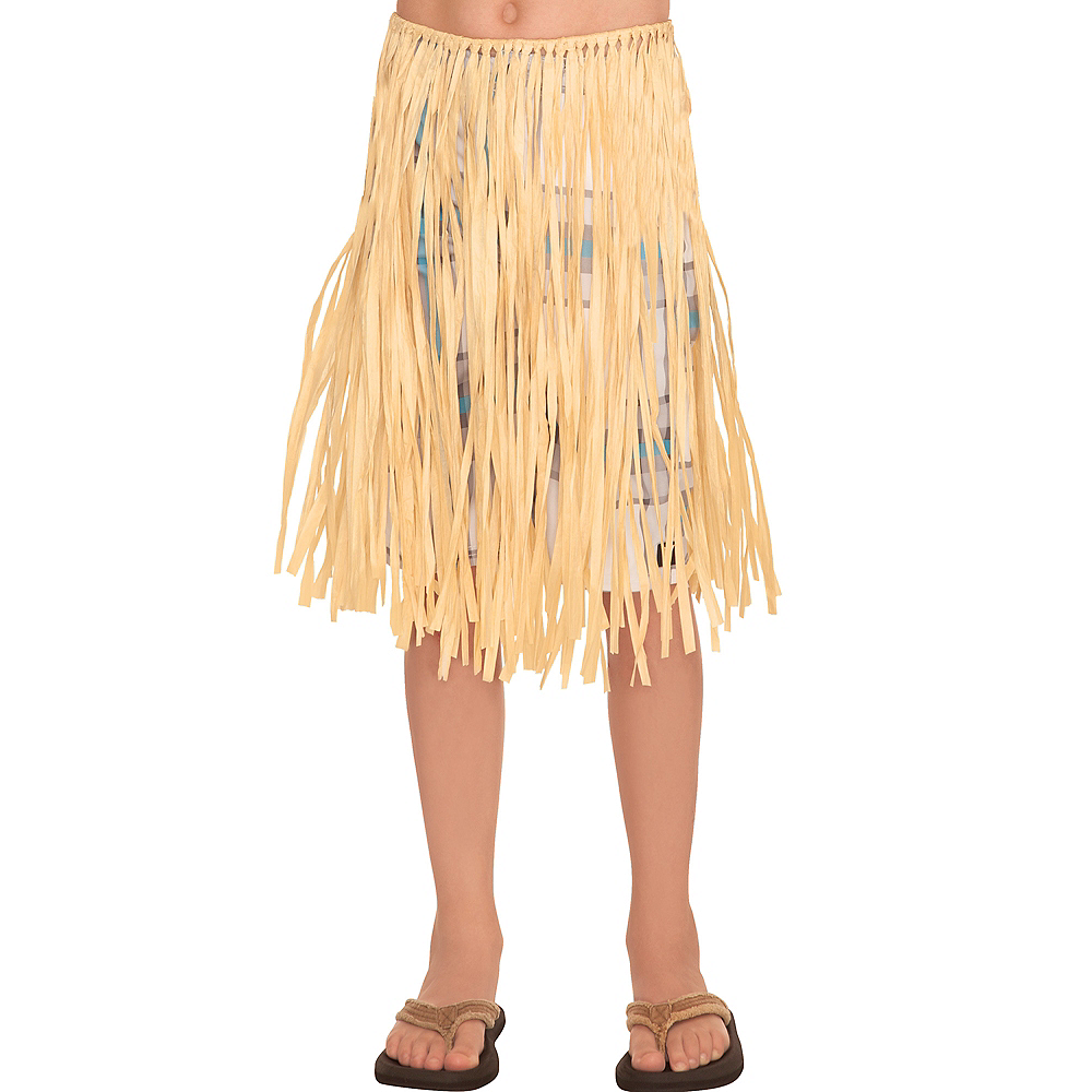 Child Natural Grass Hula Skirt Image #1