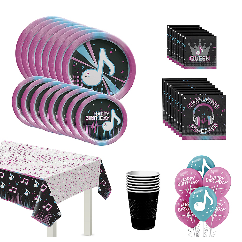 Internet Famous Birthday Tableware Kit for 8 Guests Image #1